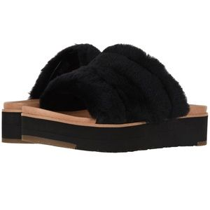UGG Women's Fluff Yeah Wedge Sandal - new in box